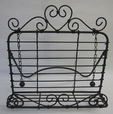 French Provincial Country Brown Recipe Book Stand Holder With Heart And Swirls