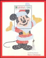 Guyana 1991 Disney/Mickey Mouse/Christmas/Cartoons/Animation 1v m/s (n26691)