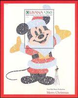 Guyana 1991 Disney/Mickey Mouse/Christmas/Cartoons/Animation 1v m/s (n26691)