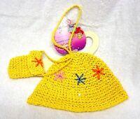 Heless Puppenkleidung Sommerhütchen und Schultertasche für 35 - 45 cm Puppen