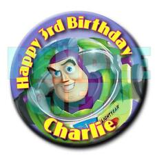 BUZZ LIGHTYEAR - Toy Story - BIRTHDAY BADGE - 58mm -  any name and age