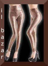 Leopard Leggings  lucido tg .unica