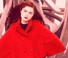 $2,495 RUNWAY Burberry Prorsum 38 4 Short Sculptural Wool Women Cape Jacket NEW
