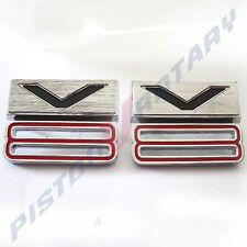 V8 GUARD BADGES x2 Chrome NEW for Ford Falcon Fairlane GT XW XT ZB ZC 351 fender