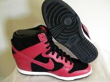 Women's nike dunk sky hi size 7 new red black