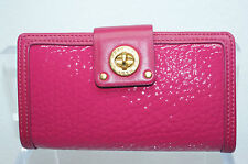 New Marc by Marc Jacobs Bifold Wallet Totally Turnlock Flap Pink Leather Bag