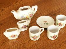 vintage old childs teapot doll  tea set  japan toy antique collection lot  #4