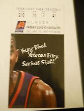 1996-97 Phoenix Suns vs. Vancouver Grizzlies NBA Ticket Stub (SKU1)