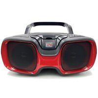SYLVANIA(R) SRCD1037BT-BLACK/RED SYLVANIA Bluetooth Portable CD AM/FM Radio B...