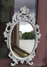 Espejo de pared antiguo Blanco Ovalado 43x27 maquillaje bad-friseurspiegel c531
