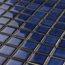 Keramik Mosaik Fliesen 25x25x4mm Blau