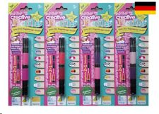 Creative Nails Peel off Nail Art Pen Nagellack und Dekospitze XL Set  8 Farben