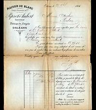 """ORLEANS (45) USINE de LINGE / MAISON DE BLANCS """"PIPROT & AUBERT"""" en 1886"""