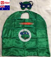 Kid Blue Ninja Turtle Costume Cape+Mask Boys Leonardo Halloween Party Children