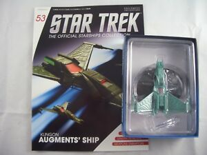 Star Trek Eaglemoss Starship Collection Issue 53 Klingon Augments' Attack Ship
