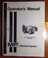 Massey Ferguson MF 1500 MF 1800 Tractor Owner's Operator's Manual 1448 173 M5