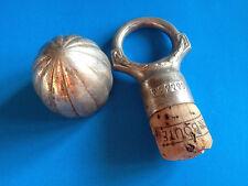 2X Anciens Bouchons de Bouteille Décoratifs ALPACCA / Antique Bottle Caps