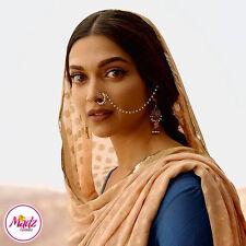 INDIAN Bollywood Etnico ORO Nath Naso Anello Nuziale Gioielli Tradizionali