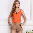 Women Summer Chiffon Sleeveless Vest Shirt Loose Casual Blouse Tank Top Big Size
