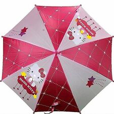 New Hello Kitty Shooting Stars Pink Molded Handle Umbrella