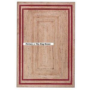 Rug 100% Natural Jute Handmade Runner Rug Reversible Living Area Home Carpet Rug