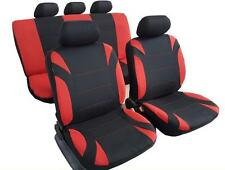New Polyester Airbag Seat Cover Red Black For Subaru STI IMPREZA BRZ FORESTER XV