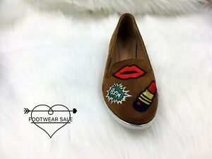 Footwear Sale Women Fashion Ballerina Shoes Ladies Flat Cartoon Velvet Lips Size