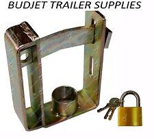 Trailer Hitch Lock Coupling Universal Tow Ball Caravan Camping Anti Theft H/duty