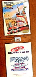 Brickyard 400 1996 Program, Starting Line Up and Key Chain,  I Bought at Race