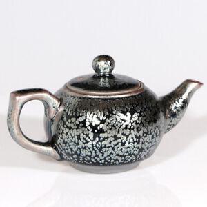 200714-136 Chinese Jianzhan Tenmoku Teapot Porcelain Tea Pot Yuteki Pattern