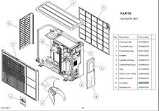 GENUINE FUJITSU AIR CONDITIONER CONDENSER FAN MOTOR AOTG24CMCB , AOTG18CMCB