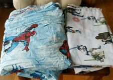 **Lot** Spiderman & Star Wars Bedding Bed Sheet Sets Size Twin