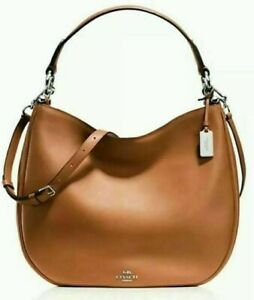 Coach 36026 Nomad Hobo Glovetanned Smooth Leather In SADDLE Brown NWT $495