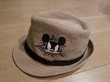 4f9338e95f6 Disney Parks Exclusive Mickey Mouse Fedora Hat Tan Cotton  Youth EUC