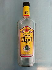 """DREGO  AZUL        """"IMPORTED  GOLD  TEQUILA""""       EMPTY  BOTTLE"""