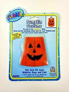 Ganz Webkinz Pumpkin Costume Fits most Webkinz Dogs and Cats New