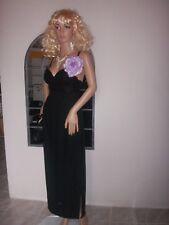 superbe   robe longue noire cabaret dentelle soirées cocktails dos nu  ref 1761