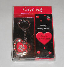 PHOTO KEYRING KEYCHAIN~ LOVE HEART ~ PERSONALISED GIFT ~ KEY RING KEY CHAIN