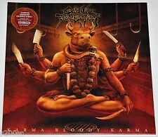 CATTLE DECAPITATION - KARMA BLOODY KARMA, 2014 ORANGE/RED vinyl LP, 052/300! NEW