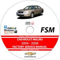 Chevrolet Malibu 2004 2005 2006 2007 2008 Service Repair Manual on CD