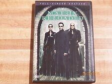 Matrix Reloaded 2-Disc Full Screen DVD Keanu Reeves science fiction action guns