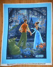 Disney Thomas Kinkade Princess & The Frog PANEL FLEECE Fabric Tiana Naveen 50x60