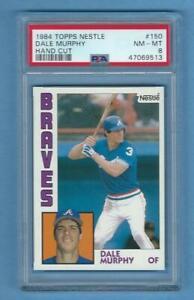 1984 Topps Nestle Dale Murphy hand cut #150 Graded Card PSA 8 Braves