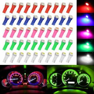 50x T5 74 5050SMD LED Speedometer Instrument Gauge Cluster Dash Light Bulb 8000K