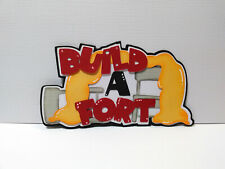 Build a Fort Title paper piecing Premade Scrapbook Pages