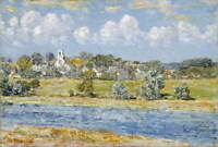 Childe Hassam Landscape At Newfields New Hampshire Poster Giclee Canvas Print