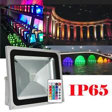 50W RGB LED Flood Light Spotlight Garden Outdoor Landscape Light IP65 Remote