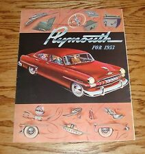 Original 1953 Plymouth Foldout Sales Brochure 53 Cranbrook Cambridge
