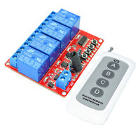 433M Switch Module Board 12V 4-way with 1000m 4-Button Remote Controller
