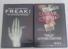 Magic Trick DVD's Freak and Clean Thru / Clear Thru